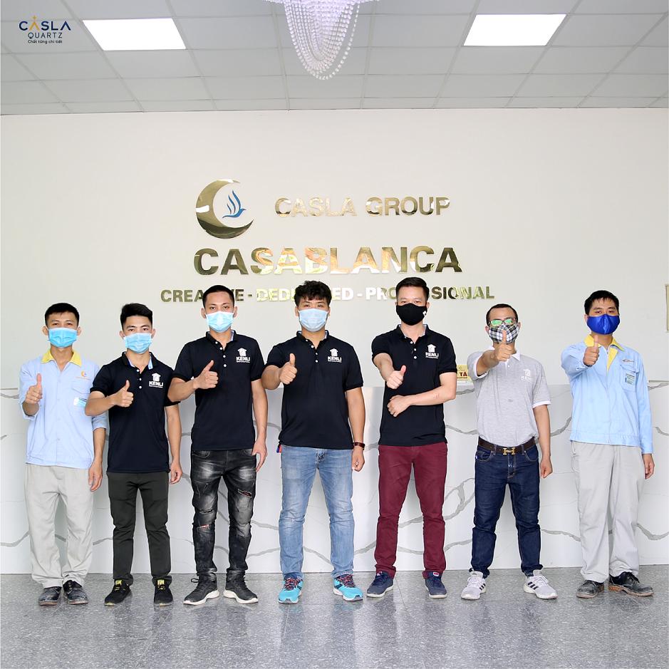 Caslaquartz tổ chức đào tạo chuyên sâu cho nhà phân phối cấp 1