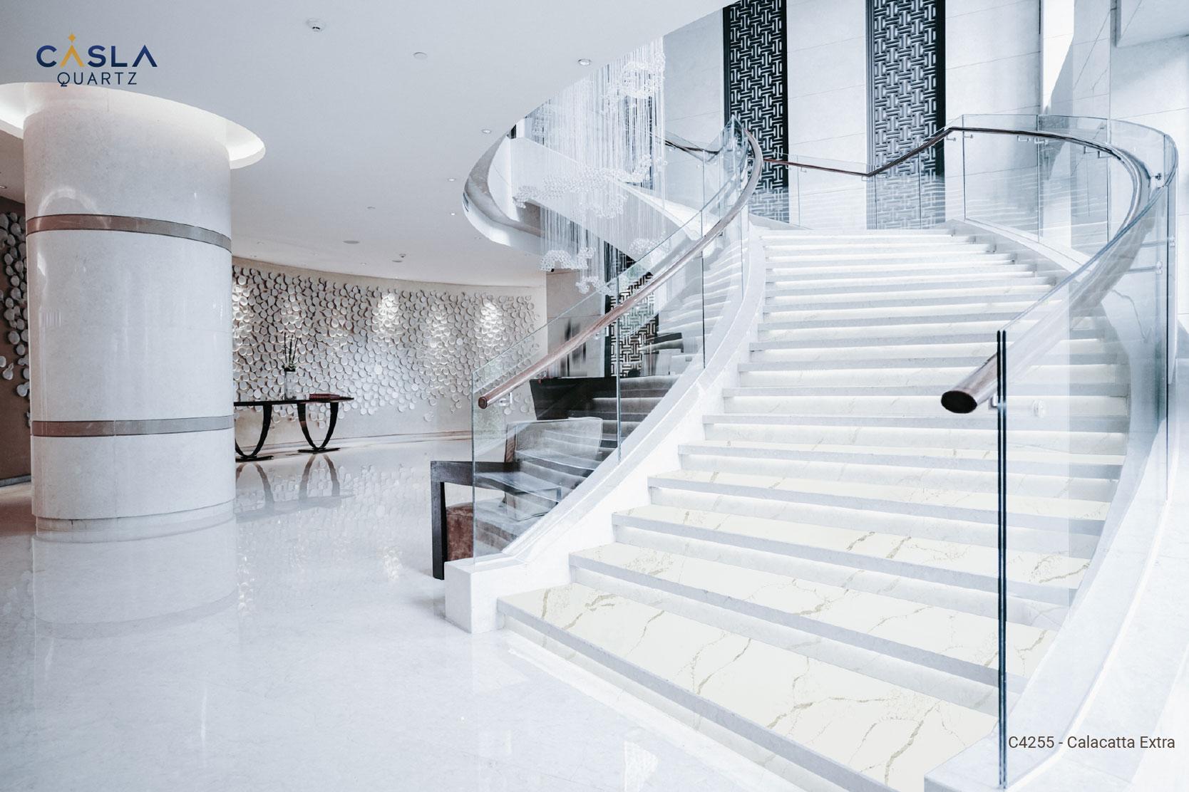 Bật mí cách lựa chọn đá nhân tạo ốp lát cầu thang đẹp nhất
