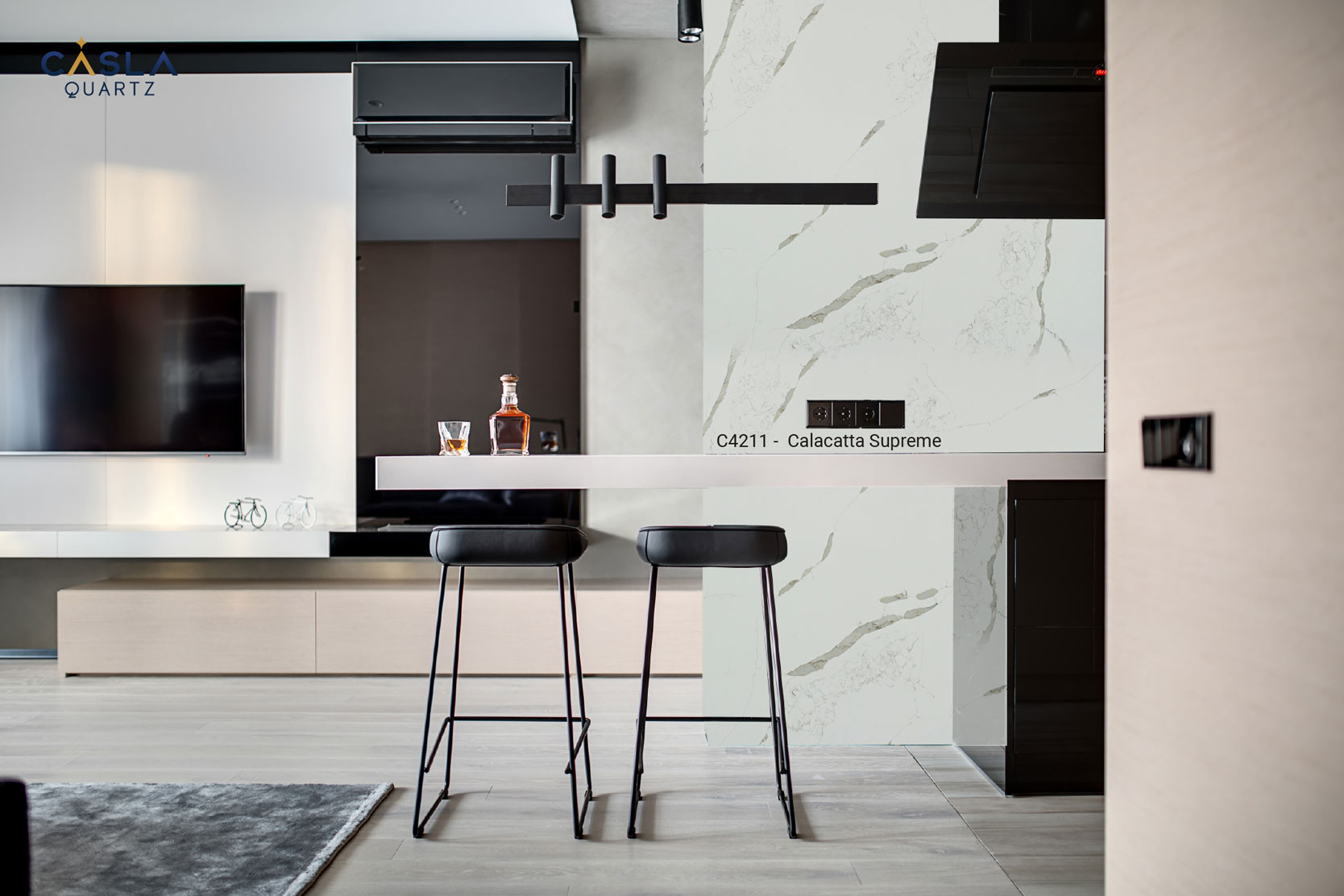 Xu hướng mới: Tạo quầy bar mini mặt đá trong bếp chung cư