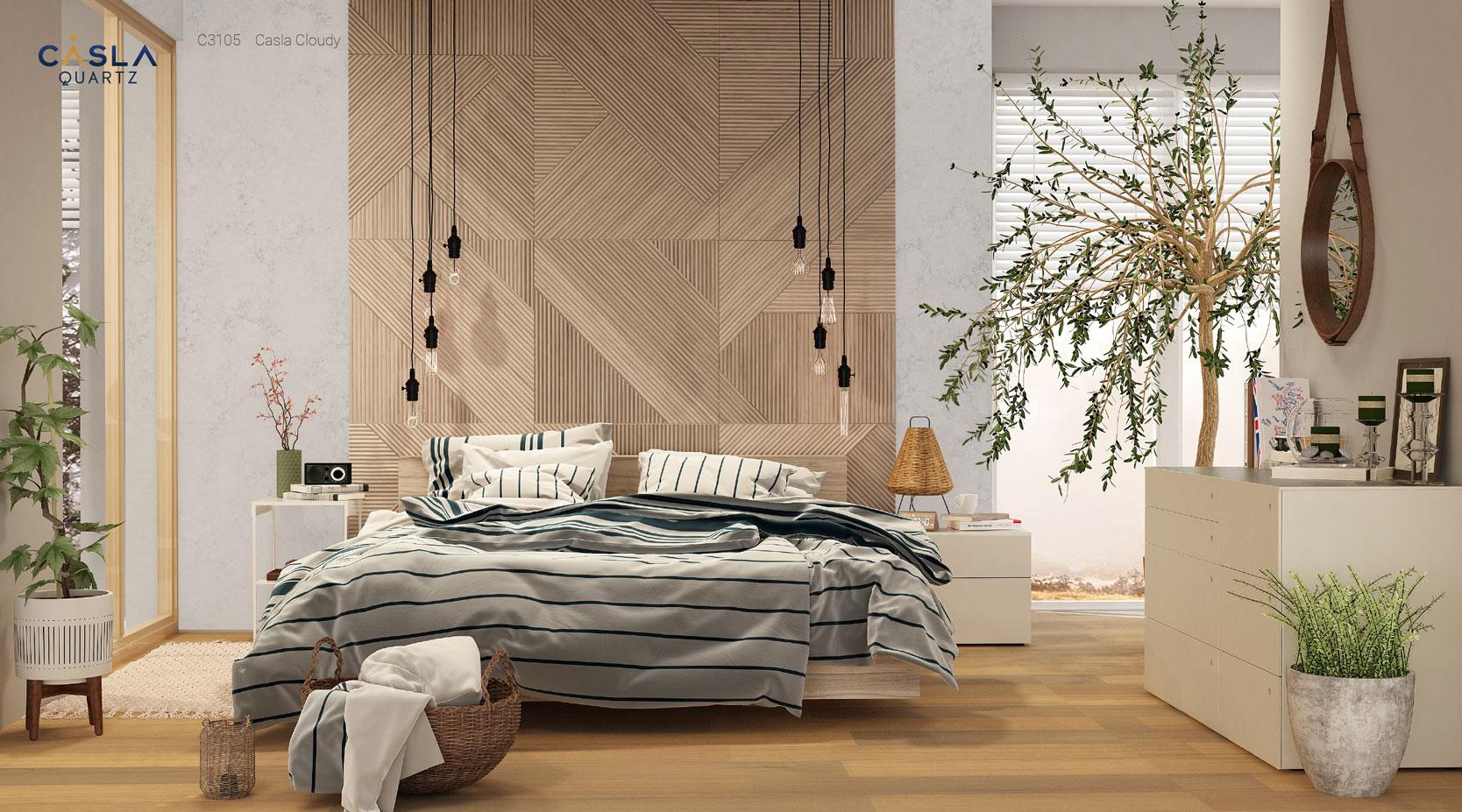 Ứng dụng đá quartz cho phong cách thiết kế nội thất Rustic