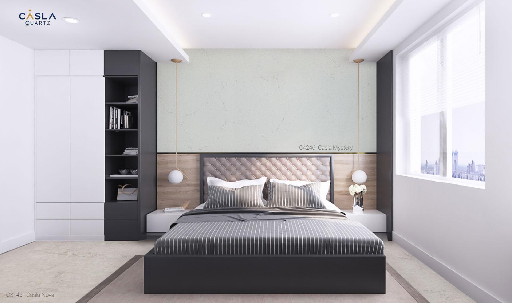 Đá nhân tạo ốp tường phòng ngủ đẹp Casla Mystery