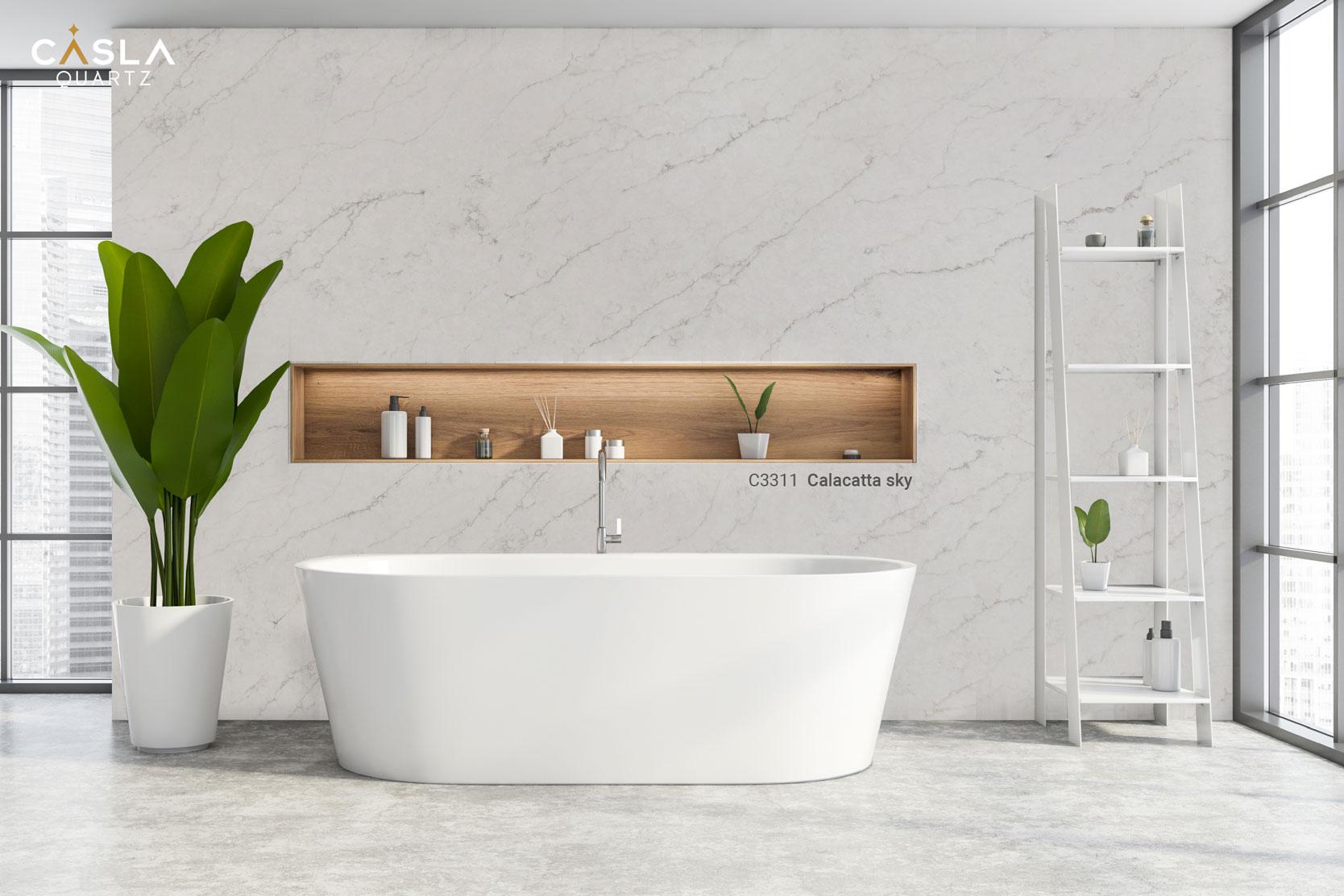 Top 7 mẫu đá ốp nhà vệ sinh, phòng tắm cao cấp Caslaquartz