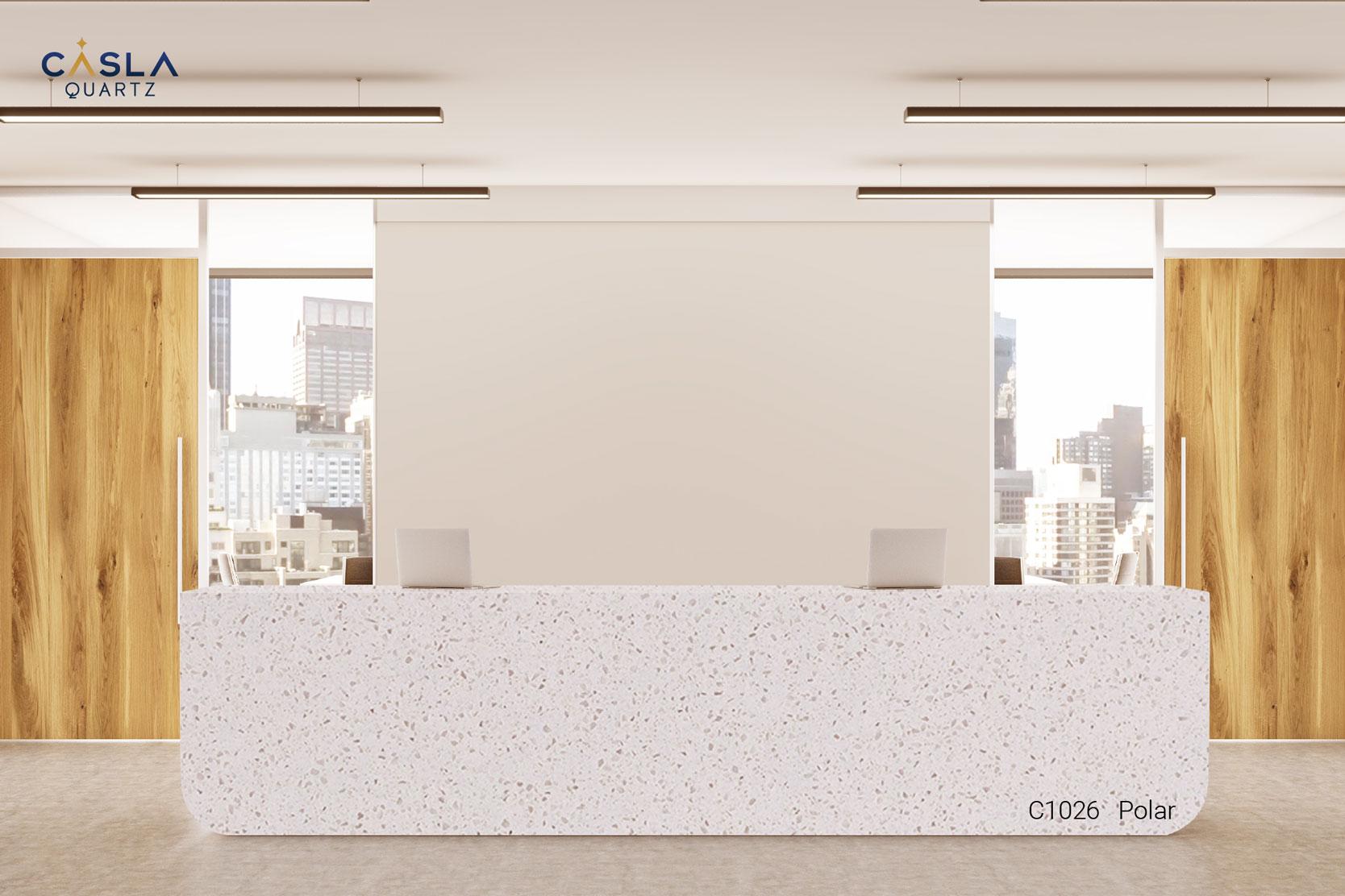 Vì sao đá Caslaquartz hợp với tòa nhà văn phòng, khách sạn cao cấp?