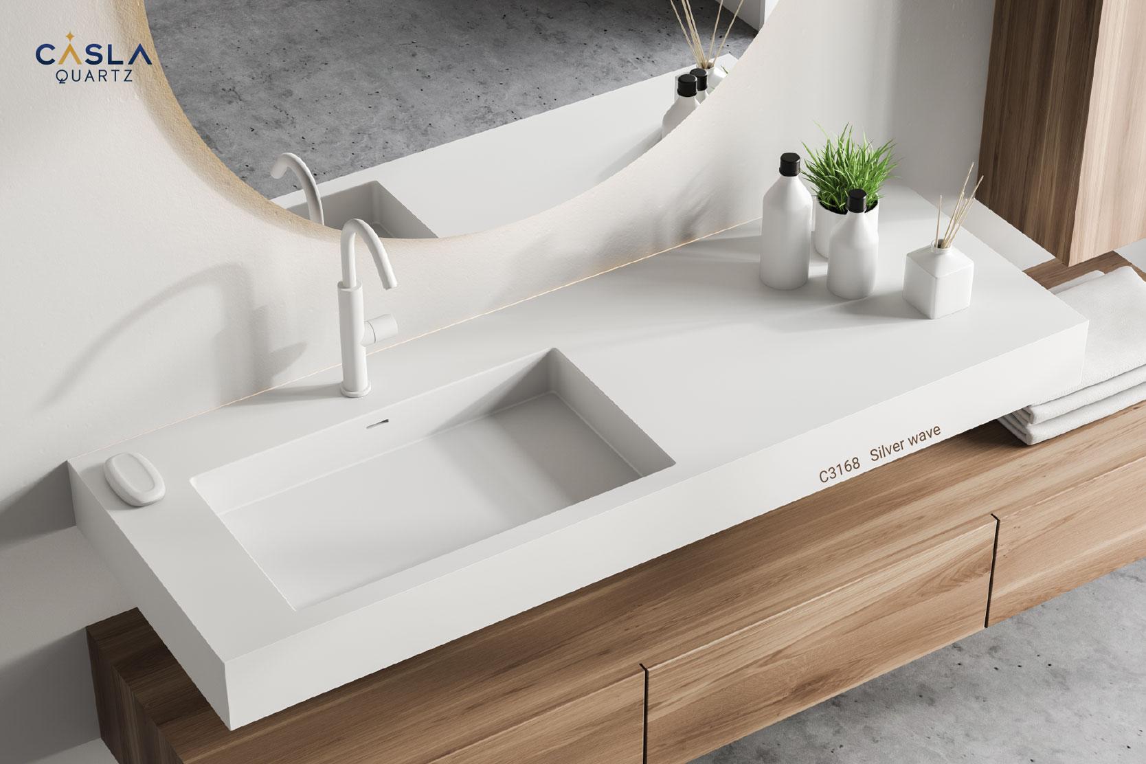 Phòng tắm, nhà vệ sinh cao cấp sử dụng đá Silver Wave