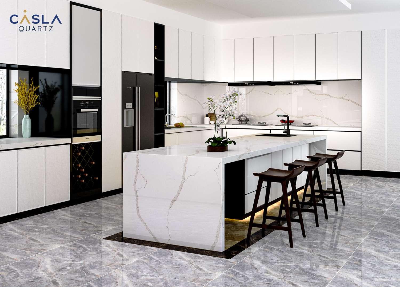 Layout thiết kế nhà bếp tiện nghi cho gia đình hiện đại