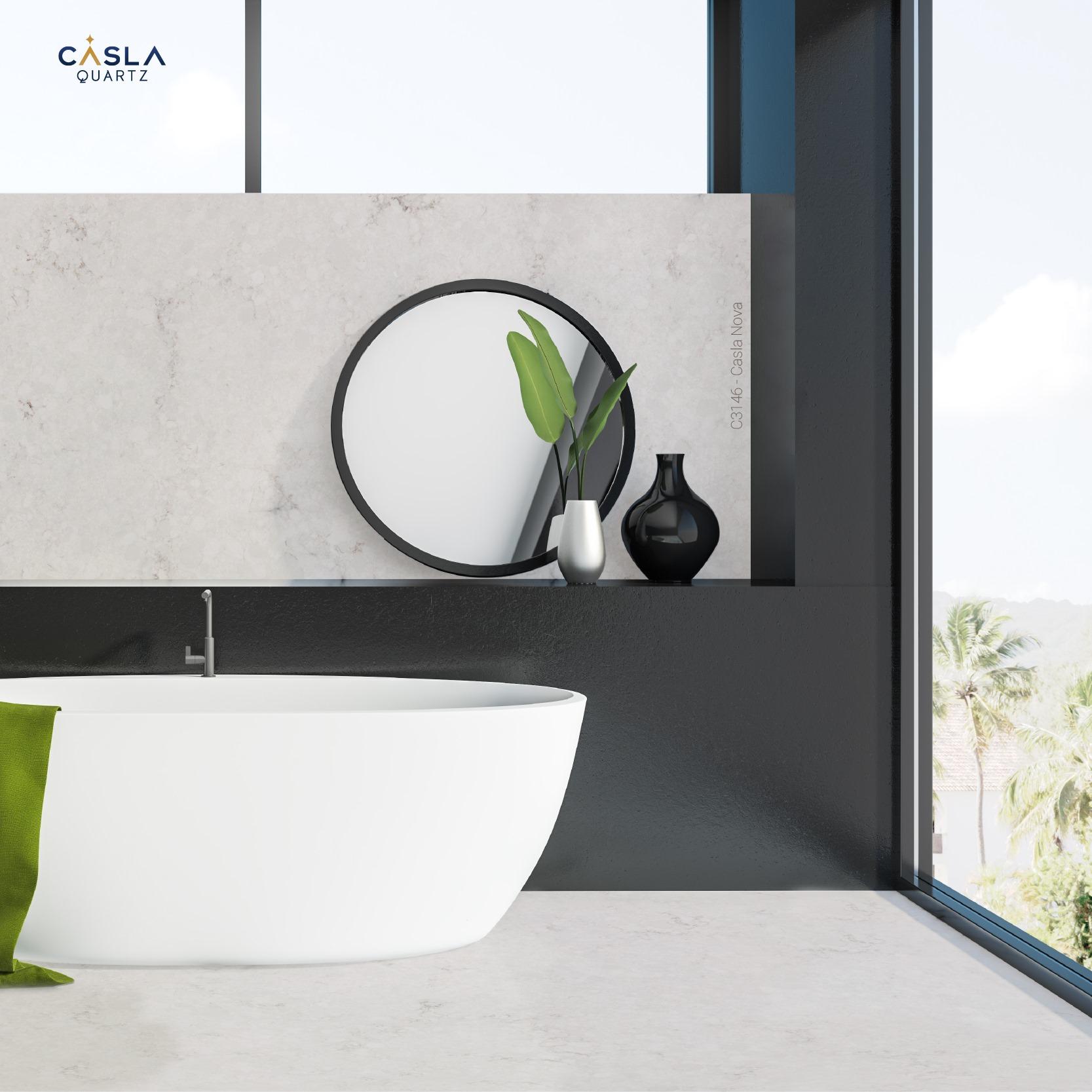 Đá thạch anh nhân tạo Casla Nova trang trí nhà tắm cao cấp