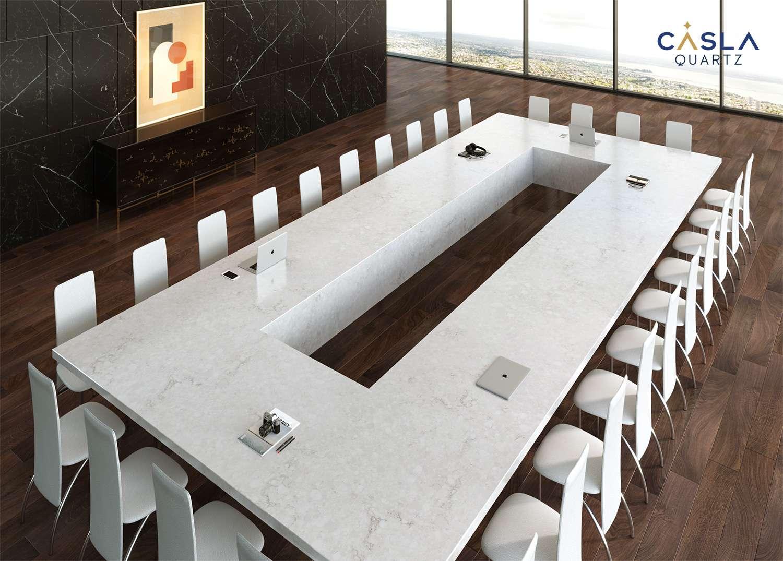 5 mẫu bàn phòng họp đá nhân tạo đẹp mắt và thời thượng