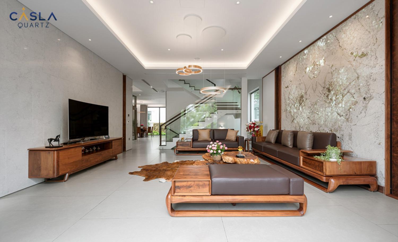 Trang trí biệt thự sang trọng, bền đẹp với nội thất từ đá nhân tạo