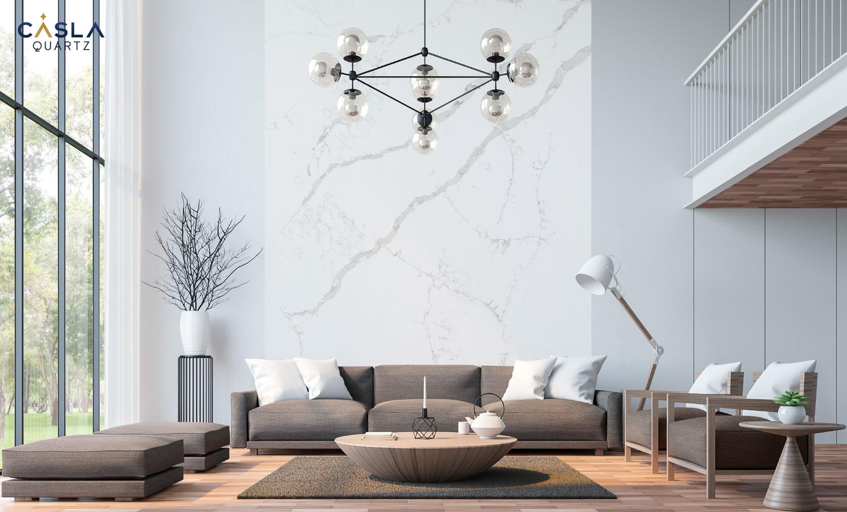 Đá nhân tạo ốp tường nhà đẹp Calacatta Extra