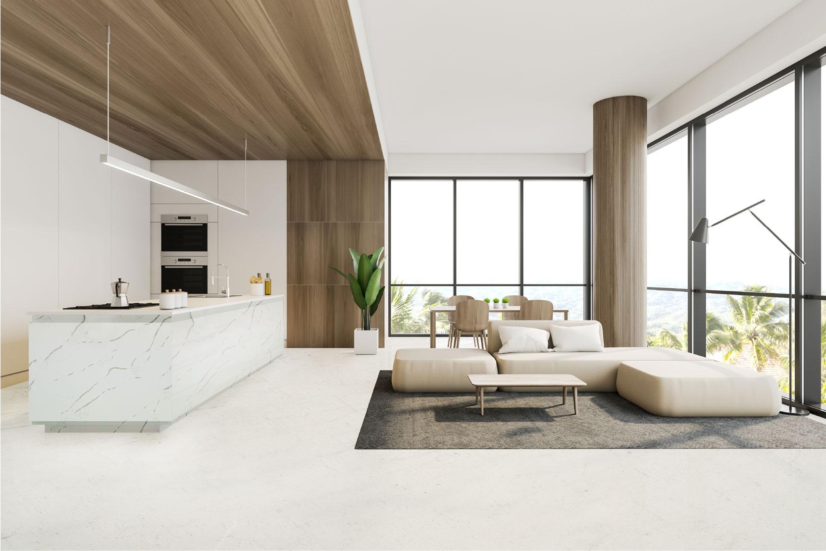 Bí quyết trang trí nội thất đẹp, hiện đại với đá nhân tạo Caslaquartz